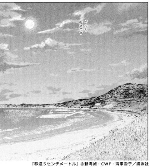 『秒速5センチメートル』中山海岸 コマ画像